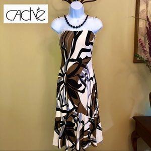 EUC lovely Cache strapless dress!